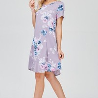 Lovely Lavender Floral Dress - Cut From the Same Cloth Boutique