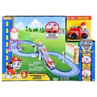 Original Paw Patrol Roll Patrol - Marshall'sTown Rescue Track Set with Exclusive Motorized Vehicle with Lights and Sounds