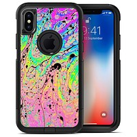 Neon Color Fushion with Black splatters - iPhone X OtterBox Case & Skin Kits