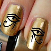 36 Nail Art DECALS Eye of Horus / Ra EGYPTIAN by NorthofSalem