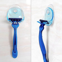 Super Suction Cup Razor Rack Holder Suction Shaver Storage Wall Hook Hangers Towel Sucker Bathroom Accessories