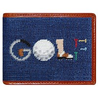 GOLF Needlepoint Wallet in Navy by Smathers & Branson