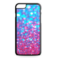 Sparkle Glitter Water Blue Pink iPhone 6 Plus case