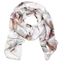 Dragonfly Scarf in True White
