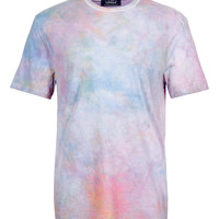 PINK WASHED LOW ROLL T-SHIRT - T-Shirts & Tanks - New In - TOPMAN USA