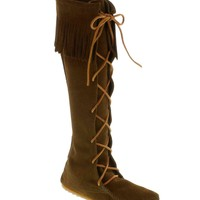 Front Lace Hard Sole Knee Hi Boot (Woman)