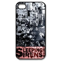 Retro Sleeping With Sirens Song Collection Art Design Hard Case Cover for Apple iPhone 4/4s