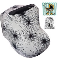 Carseat Covers for Babies Boys or Girls - Infant Car Seat Nursing Breastfeeding Cover Ups - Cozy Baby Carseats Carrier Canopy. Gifts for Moms! Black White black - white