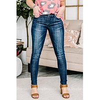 Catie Mid Rise Skinny Jeans
