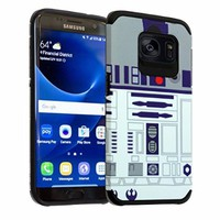 Samsung Galaxy S7 EDGE Case DURARMOR® Galaxy S7 EDGE [Lifetime Warranty] Star Wars R2D2 Astromech Droid Robot Dual Layer Hybrid Slim Armor ShockProof Air Cushion Bumper Defender Protector Case Cover