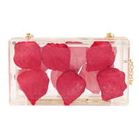 Transparent Petal Clutch Bag