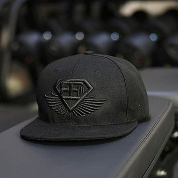 Gd Unisex Solid Ring Safety Pin Curved Hats Baseball Cap Men Women Snapback Caps