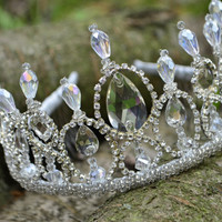Bridal Tiara, Wedding Crystal Crown, Royal Rhinestone Crown, Royal Hair Accessories, Crystal Tiara