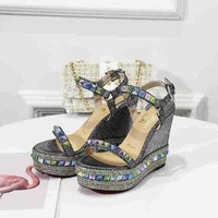 Christian Louboutin CL Pyraclou 11cm Wedges Style #1 - Best Online Sale