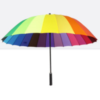 Rainbow Automatic Folding Travel Umbrella