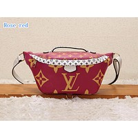 LV Hot Selling Fashion Wallet with Printed Colour Wine red
