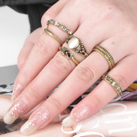 Accessory Vintage Strong Character Cats Ring Set [4918838596]