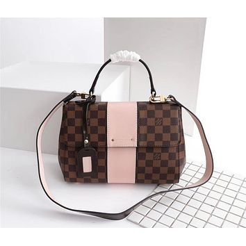 LV Louis Vuitton WOMEN'S DAMIER CANVAS CLUNY HANDBAG SHOULDER BAG