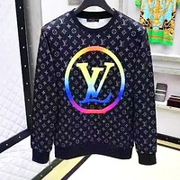 LV Louis Vuitton Fashion Men Women Casual Print Long Sleeve Sweater Top Sweatshirt