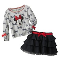 Disney Mickey Mouse & Friends Minnie Mouse Shirt & Skort Set - Baby