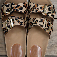Jump On Board Leopard White Bottom Sandals