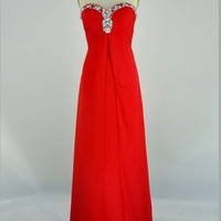 New Arrival Beach Sweetheart Floor-length Chiffon Beading Long Prom/Evening/Party/Homecoming/Bridesmaid/Cocktail/Formal Dress 2013