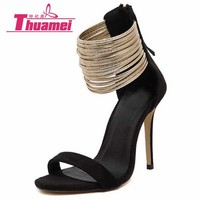 size 35-42 New women sandals thin high heels open toe sexy party spring summer women shoes woman high-heel best #Y0605388G