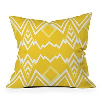 Elisabeth Fredriksson Wicked Valley Pattern Yellow Throw Pillow