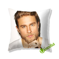 Charlie Hunnam Square Pillow Cover