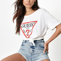 Guess x PacSun Distressed Logo Boyfriend T-Shirt at PacSun.com