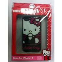 Hello Kitty Pink and Black Stripe iPhone 4G Case