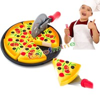 New Creative Kids Toys Cutting Pizza Pie Toy Fast Food Party Cooking Pretend Play Kitchen Early Education Toy Children Baby Toys