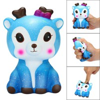 Lovely cute toys for baby Kawaii Cartoon Galaxy Deer Squishy Slow Rising Cream Scented Stress Reliever Toy soft Squeeze toy