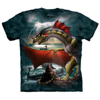 THE SENTINEL Dragon Guardian The Mountain Viking Ship Fantasy T-Shirt S-3XL NEW