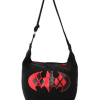 DC Comics Batman Harley Quinn Logo Hobo Bag