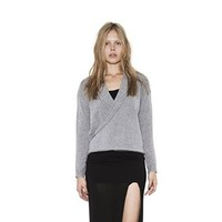 Womens Grey Bryan Convertible Pullover Cardigan Long Sleeve Sweater By One Grey Day