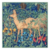 Forest Deer Design by William Morris and Company Counted Cross Stitch Pattern