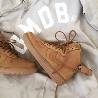 Tagre™ NIKE Air Force 1 Mid Women Men Fashion Casual Shoes Sneakers