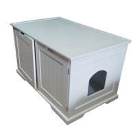 Wide 2-in-1 Cat Litter Box Table