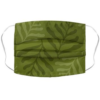 Army Green Leaves Face Mask Cover