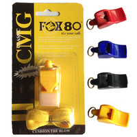 FOX80 whistle seedless plastic whistle / FOX 40 80 professional soccer referee whistle basketball referee whistle
