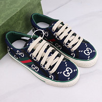 GG Fashion Casual Flats Shoes Embroidered Canvas Shoes