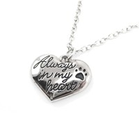 """""""Always in my Heart"""" Heart Shaped Pendant Necklace 