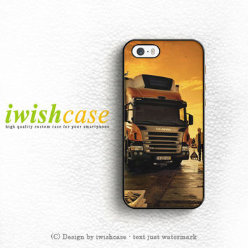 Afternoon Scania Logo Blue iPhone 4   4S Case Cover