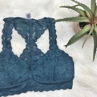Love And Lace Bralette - TEAL