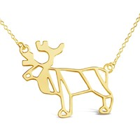 Moose Origami Inspired Animal Necklace