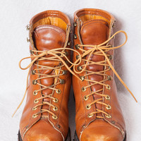 REI Insulated Leather Combat Boots, REI Leather Hiking Boots, Vintage REI Lacer Boots, Men's 8.5 Sized Combat Boots