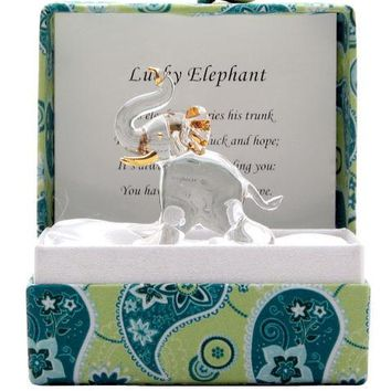 Small Messenger Good Luck Elephant Glass Figurine Gift