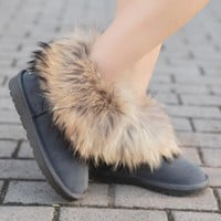 Tagre™ UGG Women Fashion Fur Leather Winter Snow Boots Shoes