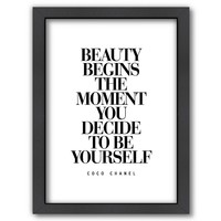 Americanflat ''Beauty Be Yourself'' Framed Wall Art